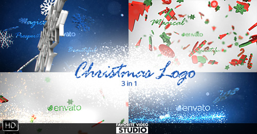 Christmas Logo 3in1
