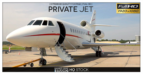 Private Jet in Airport