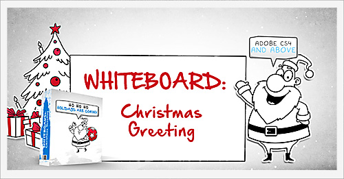 Whiteboard holiday greetings pack