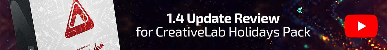 1.4 Update Review for CreativeLab Holidays Pack