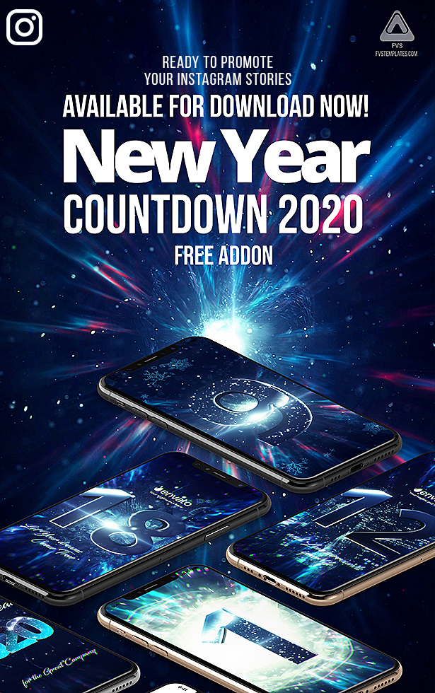 New Year Countdown 2020 Instagram Stories Version is ready for Download