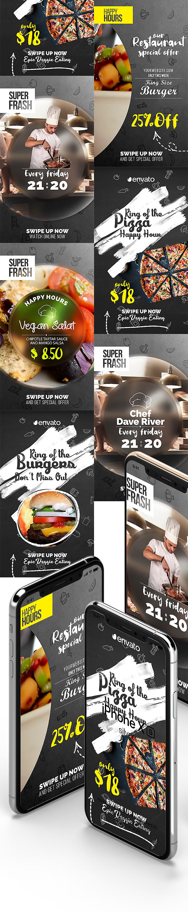 Restaurant Instagram Stories Pack Free Addon v2.2
