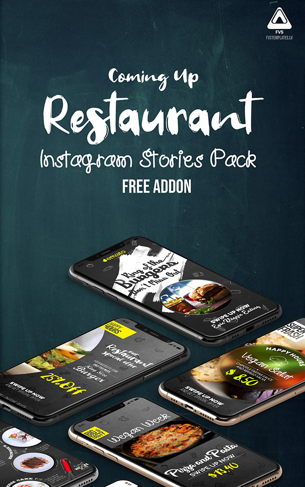 Favorite Restaurant Instagram Story Free Pack For IGTV Template
